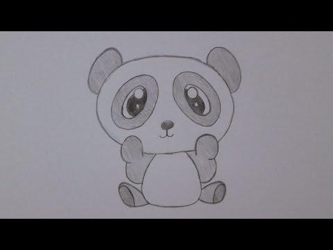Como desenhar um urso panda