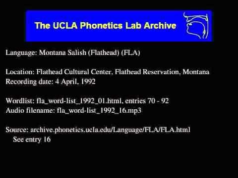 Flathead audio: fla_word-list_1992_16
