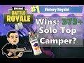 Camping is OK WINS 377 FORTNITE battle ROYALE sponsor goal 3 5