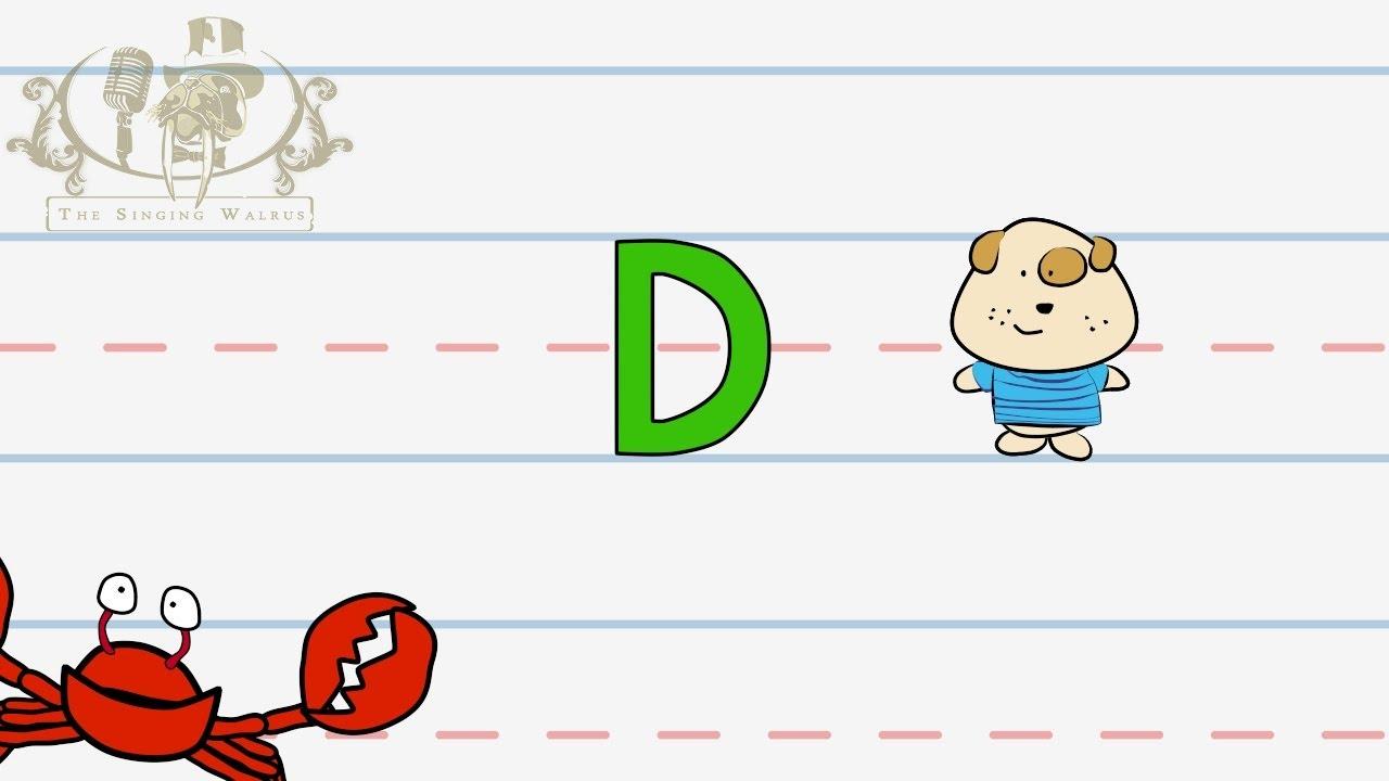 ABC Video: Write the letter D - Alphabet Writing lesson for children ...