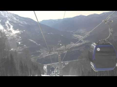 Gondola lift at Krasnaya Polyana