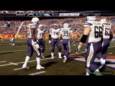 Madden 25 NFL Playoffs PS4 - San Diego Chargers vs Denver Broncos - 1st Half - HD