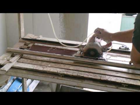 Máquina caseira para cortar cerâmica de bancada, até 1,20 m