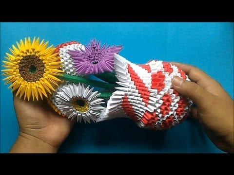 Origami 3D Arreglo floral