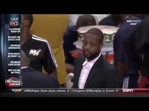 March 22, 2014 - ESPN - Game 68 Miami Heat @ New Orleans Pelicans - Loss (47-21)(Sportscenter)