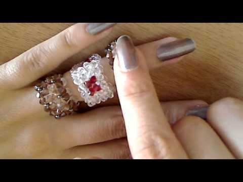 anelli swarovski e cristalli di boemia intrecci votate il tutorial da fare - YouTube