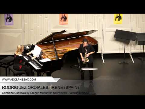 Dinant 2014 – RODRIGUEZ Irène (Concierto Capriccio by Gregori Markovich Kalinkovich – v. DINANT)