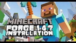 How To Install Minecraft Forge 1.4.7 Easy (FML)