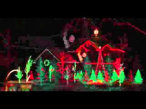 Christmas Lights House Decor Outside - YouTube