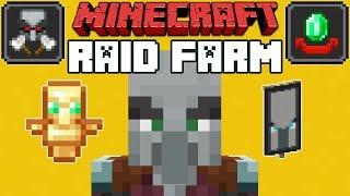 Minecraft 1.14 Pillager Outpost & Village Raid Farm