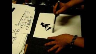 Japanese Sho(calligraphy) for Korisuya view on youtube.com tube online.