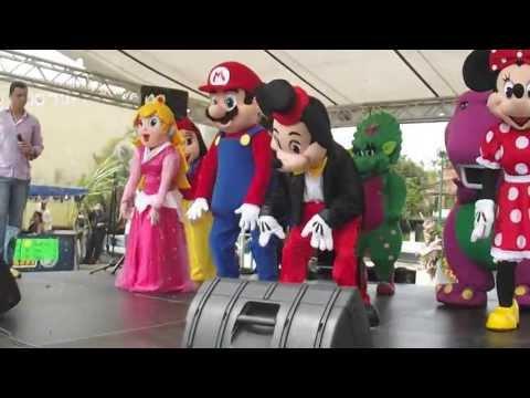 Mickey, Minie, Mario, Peachs, Barney, Baby bop, Ben 10, Blanca Nieves