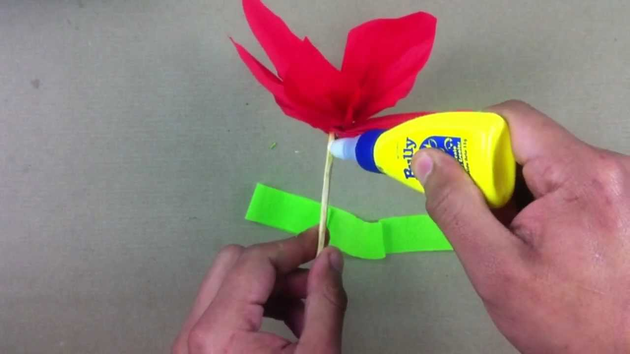 Flor de papel crep manualidades f ciles youtube - Youtube manualidades de papel ...
