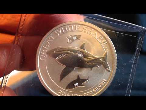 APMEX Unboxing: 2014 Great White Shark 1/2 Ounce Silver Coin