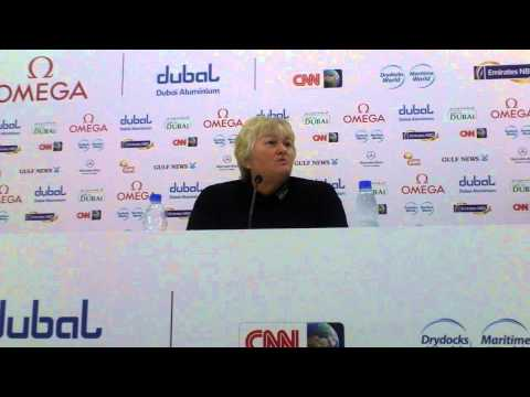 Laura Davies talking ahead of the 2013 Omega Dubai Ladies Masters - Full PC