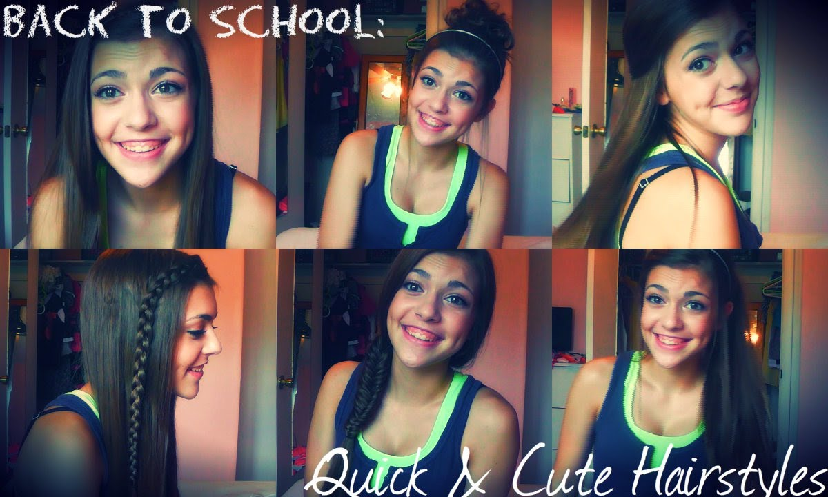 Back to School: Quick & Cute Hairstyles - YouTube