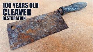 Antique Rusty Cleaver Restoration