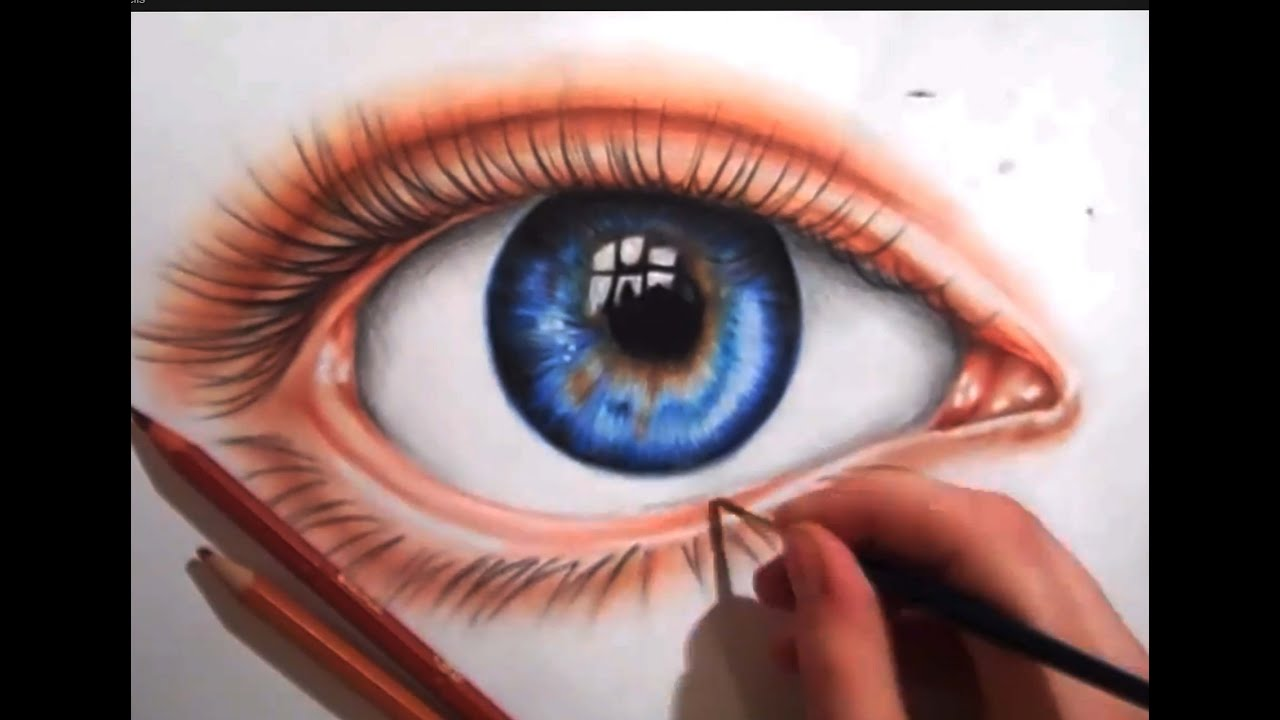 drawing an eye using colored pencils youtube. Black Bedroom Furniture Sets. Home Design Ideas