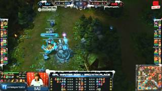[GPL 2014 Mùa Đông] [Tranh 3-4] [Game 1] Saigon Jokers vs  AHQ e-Sports Club [08.01.2014]