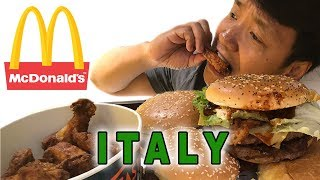 Trying McDonald's in ROME ITALY!