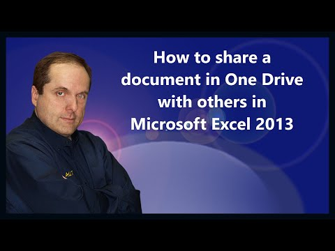 How to share a document in One Drive with others in Microsoft Excel 2013