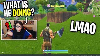 I Spectated A Default NOOB and Copied EVERYTHING He Did on Fortnite (best strategy ever)