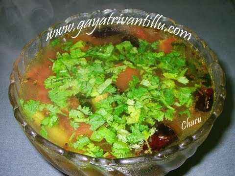 Charu - Andhra Rasam - Indian Telugu Food Recipes & Cusine - Homemade