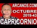 Video Horóscopo Semanal CAPRICORNIO  del 20 al 26 Octubre 2019 (Semana 2019-43) (Lectura del Tarot)