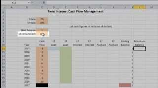 Penn Interest: Cash Flow Modeling Using Excel (Part 2: Problem Setup)