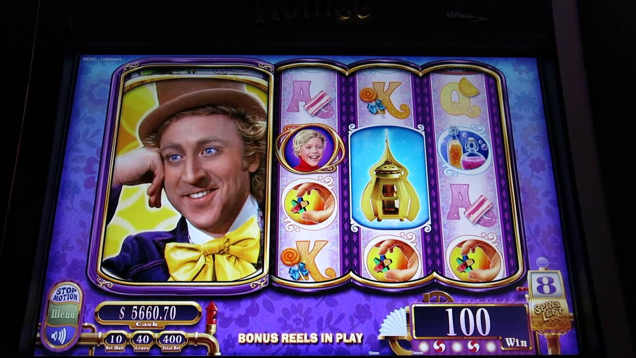 willy wonka and the chocolate factory casino game