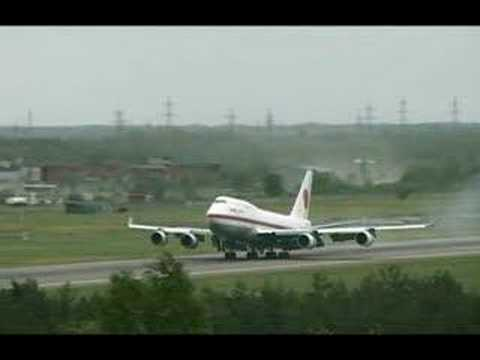 The Emperor of Japan visits Tallinn - Two Boeing 747's!