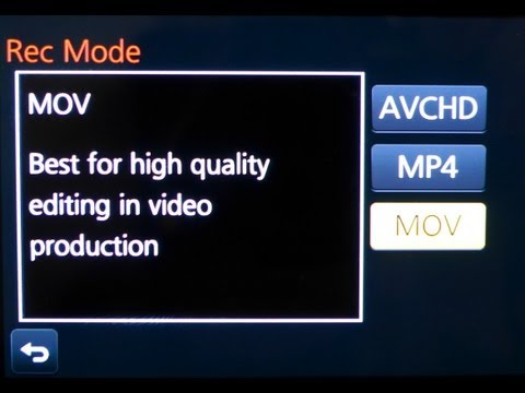 Video Capture Modes Explained - When and Why to use MP4 vs AVCHD vs MOV