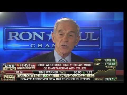 Ron Paul Discusses Janet Yellen on Fox Business 11-21-2013