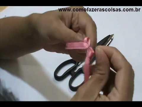 Como fazer um lacinho com fita de cetim