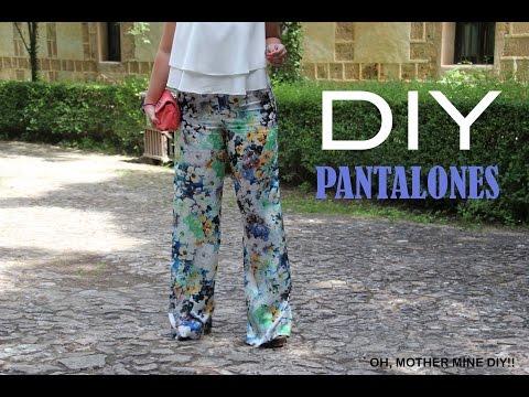 DIY Costura: Como hacer pantalones pata de elefante (patrones gratis)