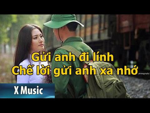 Gửi anh đi lính | chế gửi anh xa nhớ | Bích Phương Karaoke