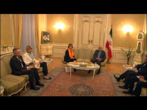 EU HR Ashton at the E3+3 negotiations with Iran: Meeting with the Foreign Minister Zarif