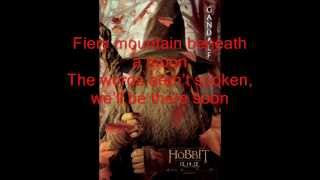 The Hobbit Song Of The Lonely Mountain With Lyrics By