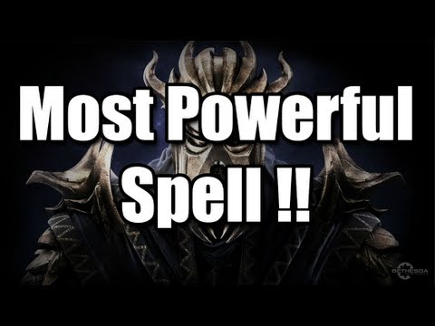 Skyrim: Dragonborn - The most powerful spell!