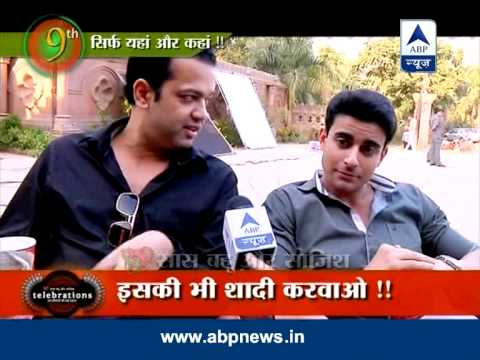 Rahul Mahajan on the sets of Saraswatichandra
