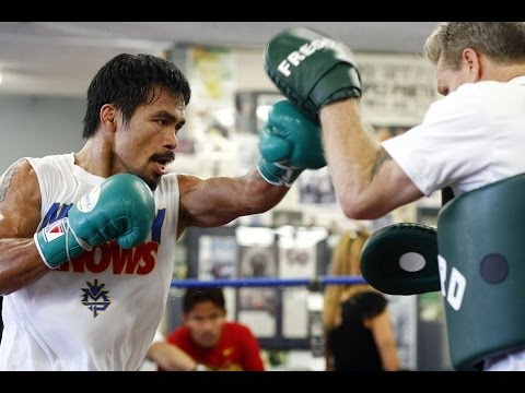 MANNY PACQUIAO; COMPLETE MITT WORKOUT With FREDDIE ROACH