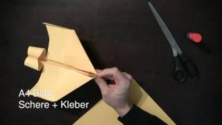papierflieger bauanleitung f r einen sehr sch nen flieger. Black Bedroom Furniture Sets. Home Design Ideas