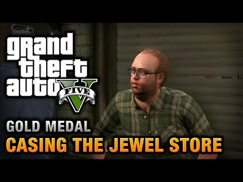 GTA 5 - Mission #11 - Casing the Jewel Store [100% Gold Medal Walkthrough],