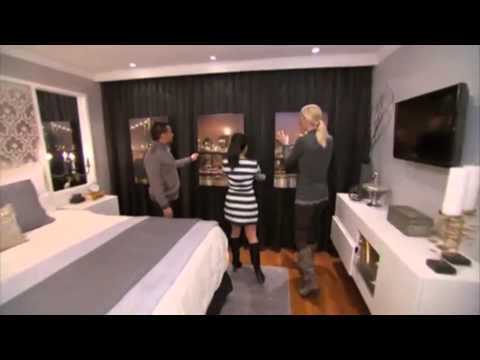 Candice Olson Master Bedroom Ventless Fireplace - YouTube