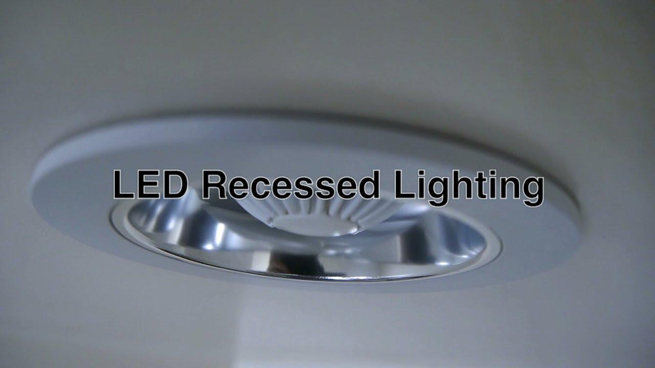 Recessed Lighting Fixtures Bathroom : Led recessed lighting w can ceiling lights fixtures for