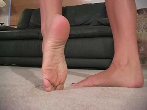 sexy feet with red nails girl barefoot toenails tease youtube. Black Bedroom Furniture Sets. Home Design Ideas