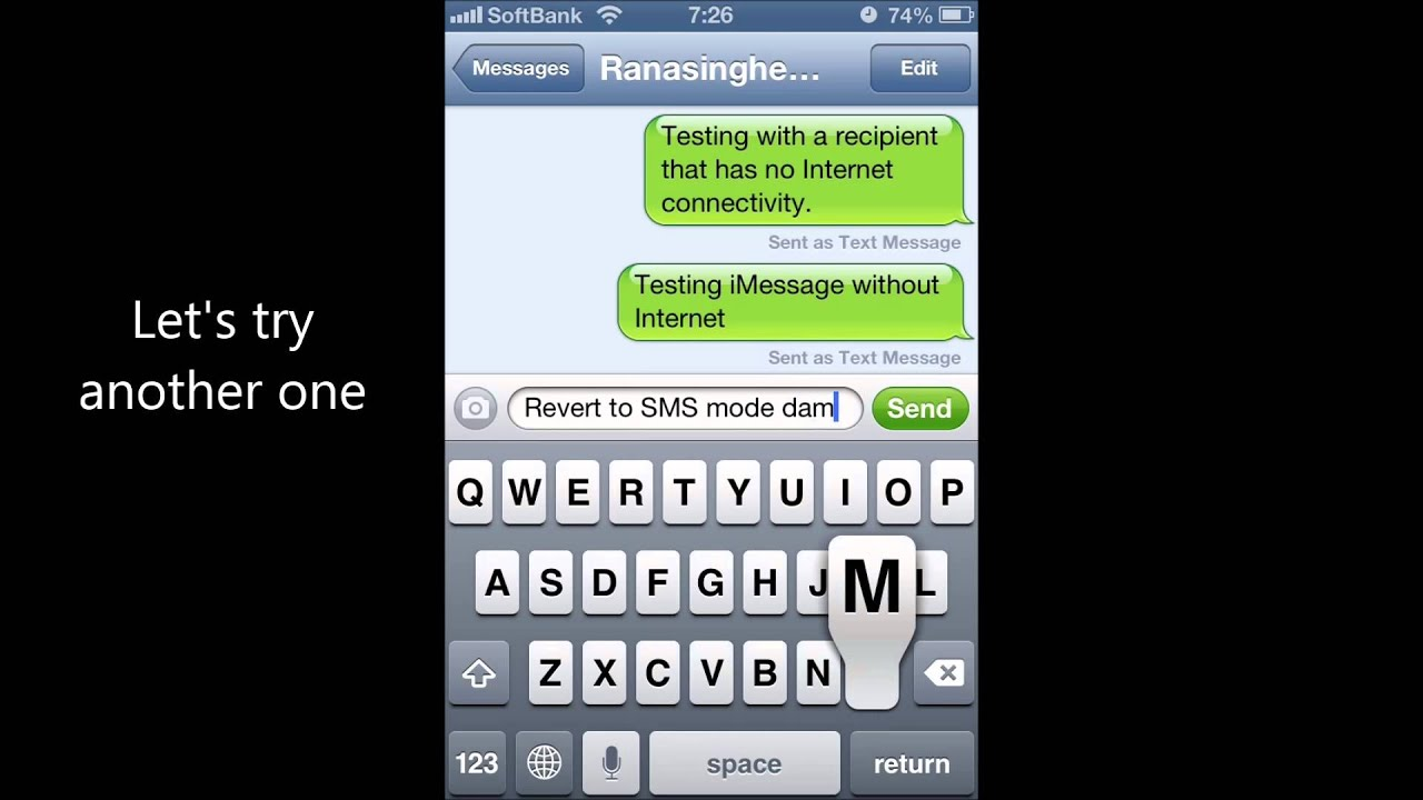 how to change an imessage to a text message