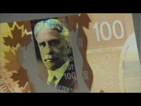 Bank of Canada new polymer $100 notes (full 8 mins b-roll) - with English commentaries