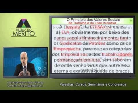 POL.08 - O Princípio Constitucional dos Valores Sociais do Trabalho e da Livre Iniciativa
