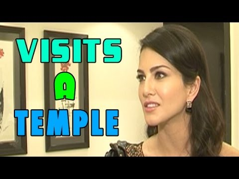 Sunny Leone visits a temple in Nepal